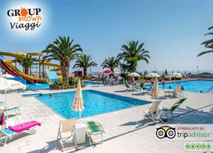 LAST MINUTE allo splendido SAN DOMENICO Family Hotel a Scalea! 27/08 - 03/09: 7 Notti x 3 persone in Soft All Inclusive + Tessera Club, Spiaggia e Acquapark, a 1.299€ a camera!