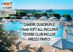 IMPERDIBILE PROMO FAMIGLIA al TH VILLAGE LE CASTELLA, Capo Rizzuto! 7 Notti in Soft All Inclusive, CLUB CARD INCLUSE, da soli 1.340€ per CAMERA QUADRUPLA! PREZZO FINITO!